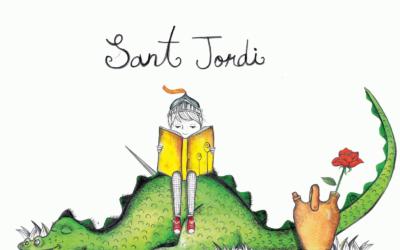 ¡Este año el Sant Jordi en verano y un delicioso regalo de la Asociación Bodhicitta Escola de l'Ésser!
